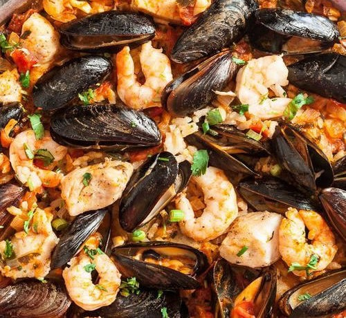 Seafood Paella (8 people minimum)