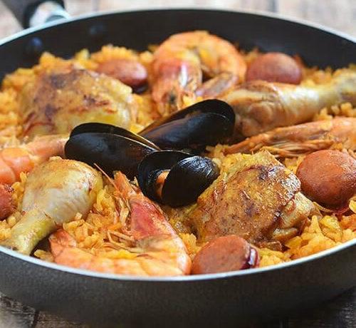 Seafood Paella (Single Portion) Minimum 8 Single Portions per Order