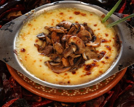 Mexican Fondue with Mushrooms